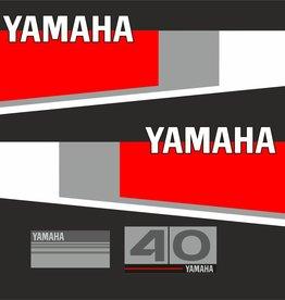 Yamaha 40 Jahre 1984 - 1987 Aufklebersatz