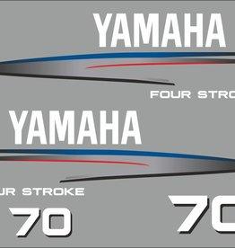 Yamaha 70 PS Jahresbereich 2002-2006 Aufklebersatz