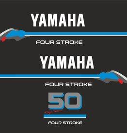 Yamaha 50 PS 4 Takt Aufklebersatz