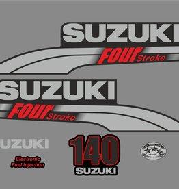 Suzuki 140 PS Jahresbereich 2003-2009 Aufklebersatz