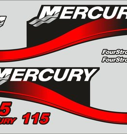 Mercury 115 PS Jahresbereich 2004-2006 Aufklebersatz
