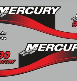 Mercury 90 PS Jahresbereich 2003 Aufklebersatz
