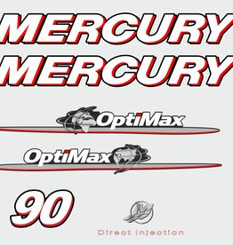 Mercury 90 PS Jahresbereich 2007-2012 Aufklebersatz