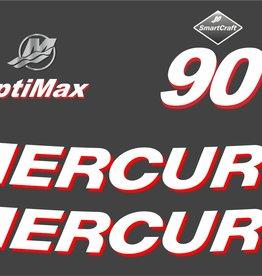 Mercury 90 PS Jahresbereich 2006 Aufklebersatz