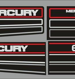 Mercury 60 PS Jahresbereich 1990 – 1991 Aufklebersatz