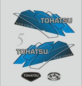 Tohatsu 5 PS Jahresbereich 1999 – 2003 Aufklebersatz