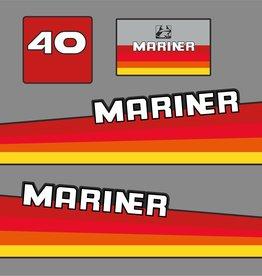 Mariner 40 PS Jahresbereich 1980 Aufklebersatz
