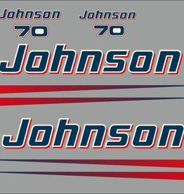 Johnson/Evinrude 70 PS Jahresbereich 1990 bis Heute Aufklebersatz