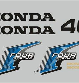 Honda 40 PS Jahresbereich 2006 Aufklebersatz