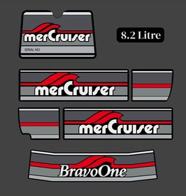 Mercury MerCruiser Bravo One Jahresbereich 1986 - 1998 Aufklebersatz