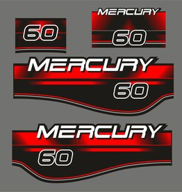 Mercury 60 PS Aufklebersatz