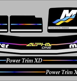 MerCruiser Alpha Racing Aufklebersatz