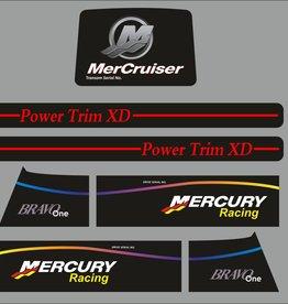 MerCruiser Bravo Racing Aufklebersatz