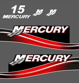 Mercury 15 PS Jahresbereich 2005-2007 Aufklebersatz