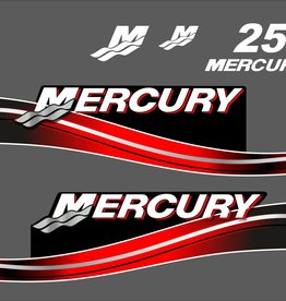 Mercury 25 PS Jahresbereich 2005-2007 Aufklebersatz