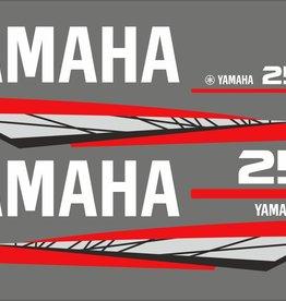 Yamaha 25 PS Jahresbereich 1998-2004 Aufkleber