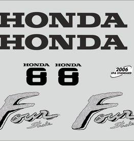 Honda 8 PS Jahresbereich 2003 Aufklebersatz