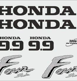 Honda 9.9 PS Jahresbereich 2003 Aufklebersatz