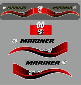 Mariner 60 PS Jahresbereich 2003-2005 Aufklebersatz