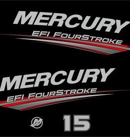 Mercury 15 PS EFI fourstroke Jahresbereich 2019 Aufklebersatz