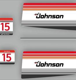 Johnson/Evinrude 15 PS Sea Horse Baujahr 1988 Aufklebersatz