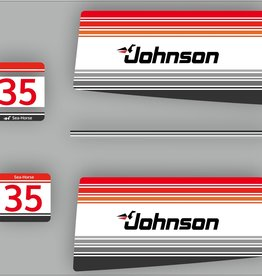 Johnson/Evinrude 35 PS Sea Horse Baujahr 1988 Aufklebersatz