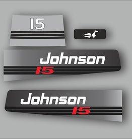 Johnson/Evinrude 15 PS Aufklebersatz