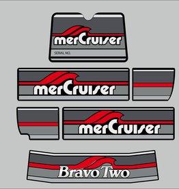 Mercury MerCruiser bravo two Aufklebersatz