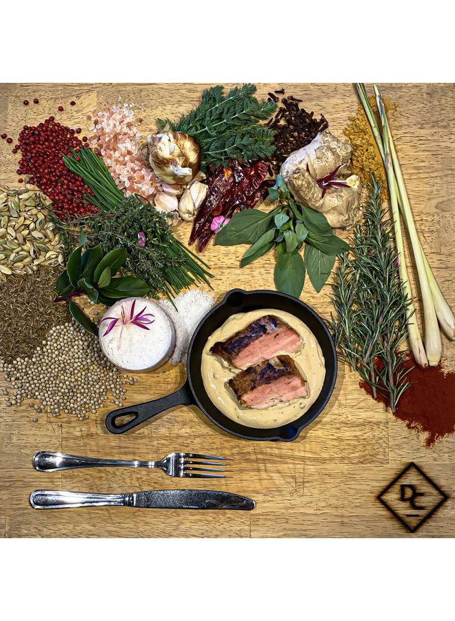 Varkenshaasje in pepersaus