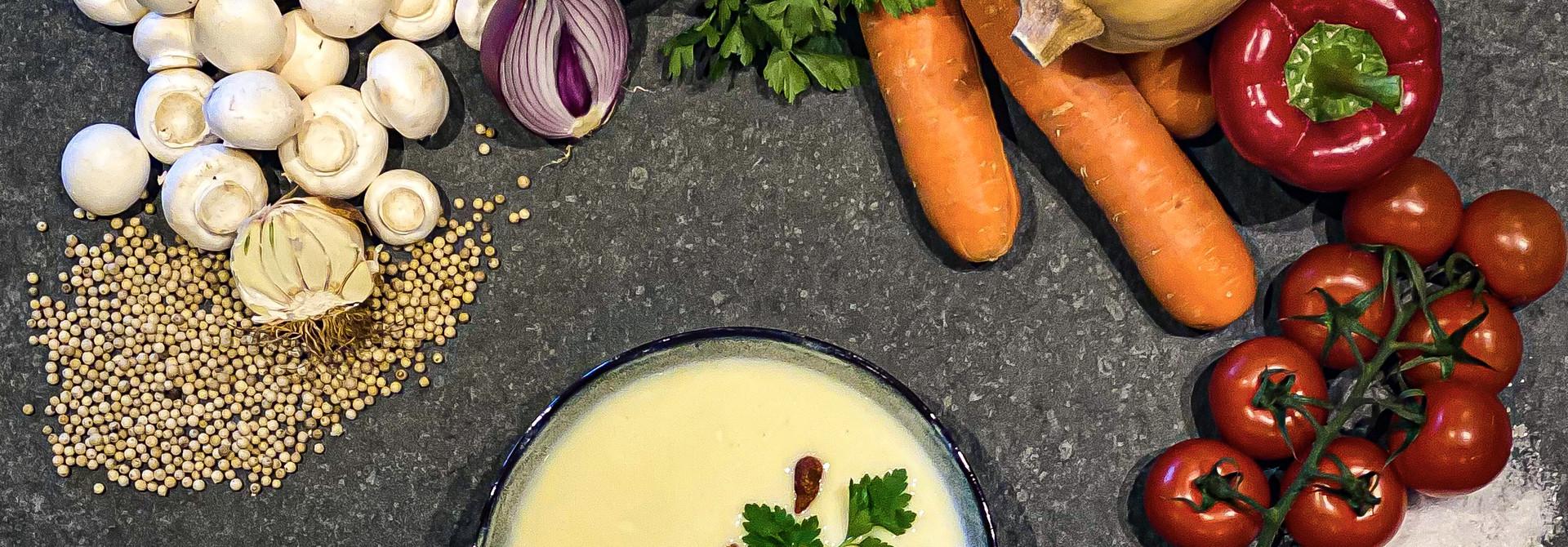 thaïse rode curry soep met kip