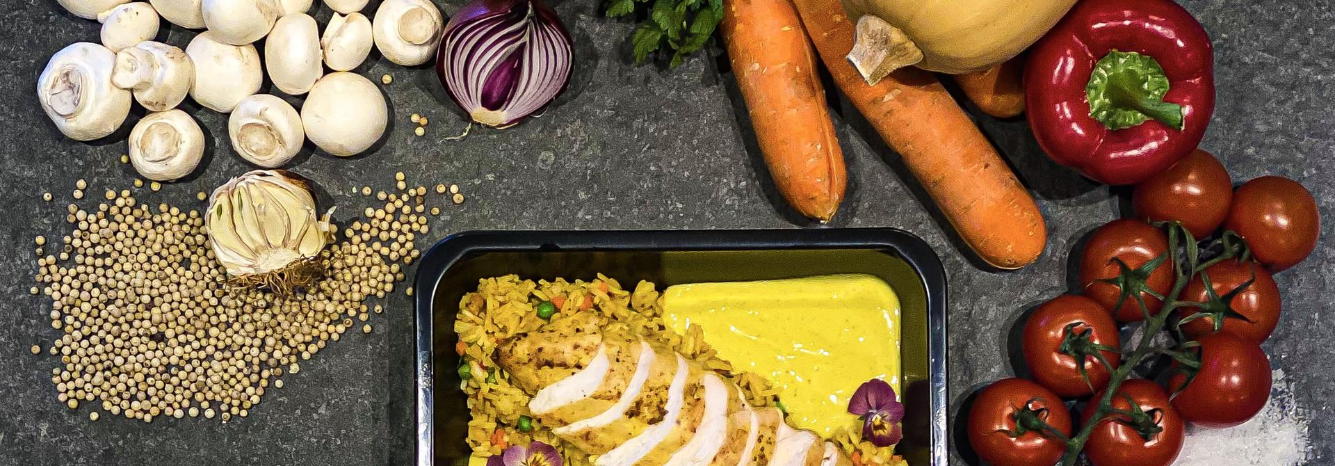 Kipfilet in currysaus met rijst