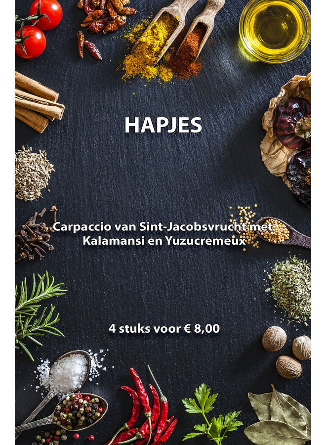 4 hapjes Sint-Jacobsvrucht