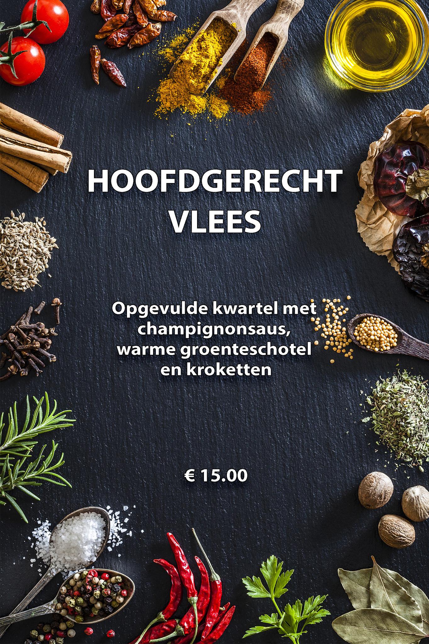 Opgevulde kwartel in champignonsaus met verse kroketten-1