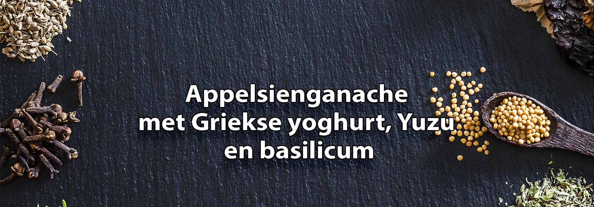 Ganache van appelsien met Griekse yoghurt en yuzu