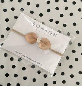 bonbon Bon bon haarband met strik leer 2 kleuren