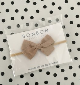 bonbon Bon bon haarband met strik linnen