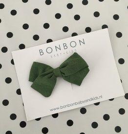 Bon bon Bon bon speld strik linnen groen