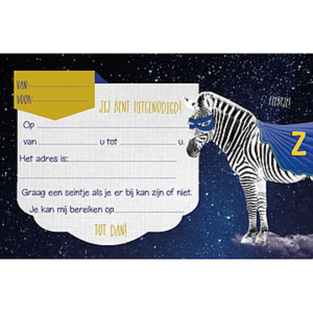 Enfant Terrible Enfant Terrible uitnodigingen zuper zebra