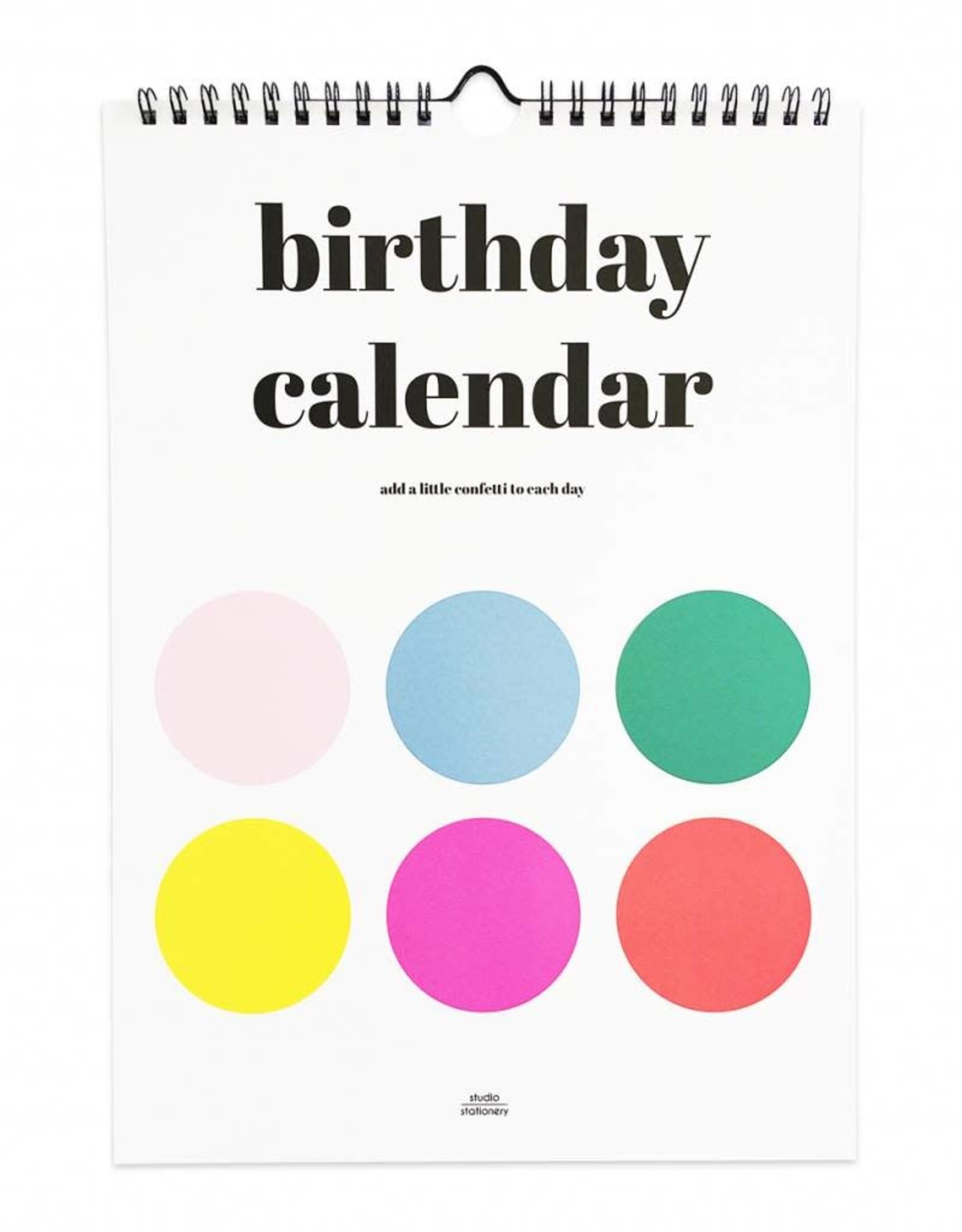 studio stationery studio stationery birthday calendar dots