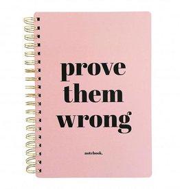 studio stationery studio stationery notebook Prove them wrong