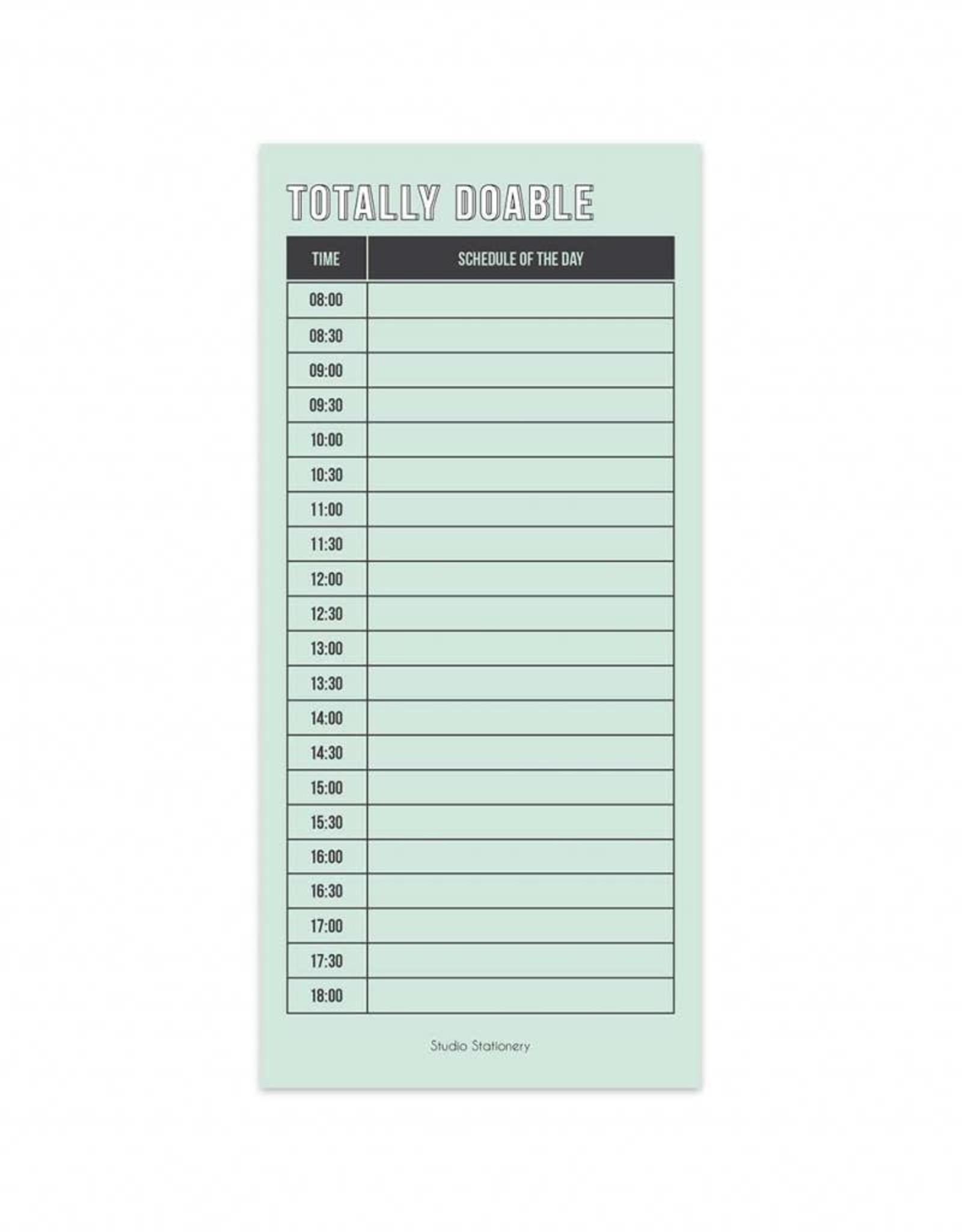 studio stationery studio stationery noteblock totally doable schedule