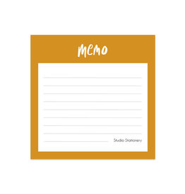 studio stationery studio stationery mini memo bruin