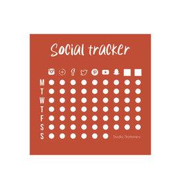 studio stationery Studio stationery social tracker