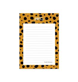 Studio stationery noteblock notes cheetah