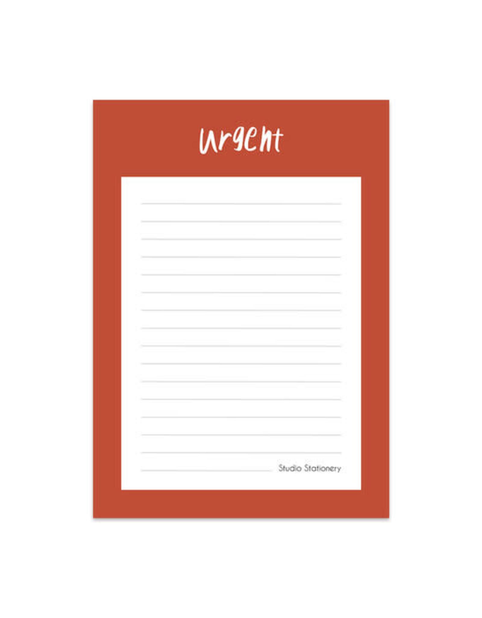 studio stationery Studio stationery noteblock urgent