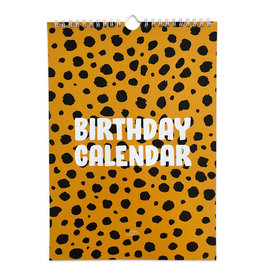 studio stationery Studio stationery Birthday calendar Cheetah