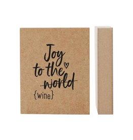 zoedt Zoedt houten blok Joy the world - wine