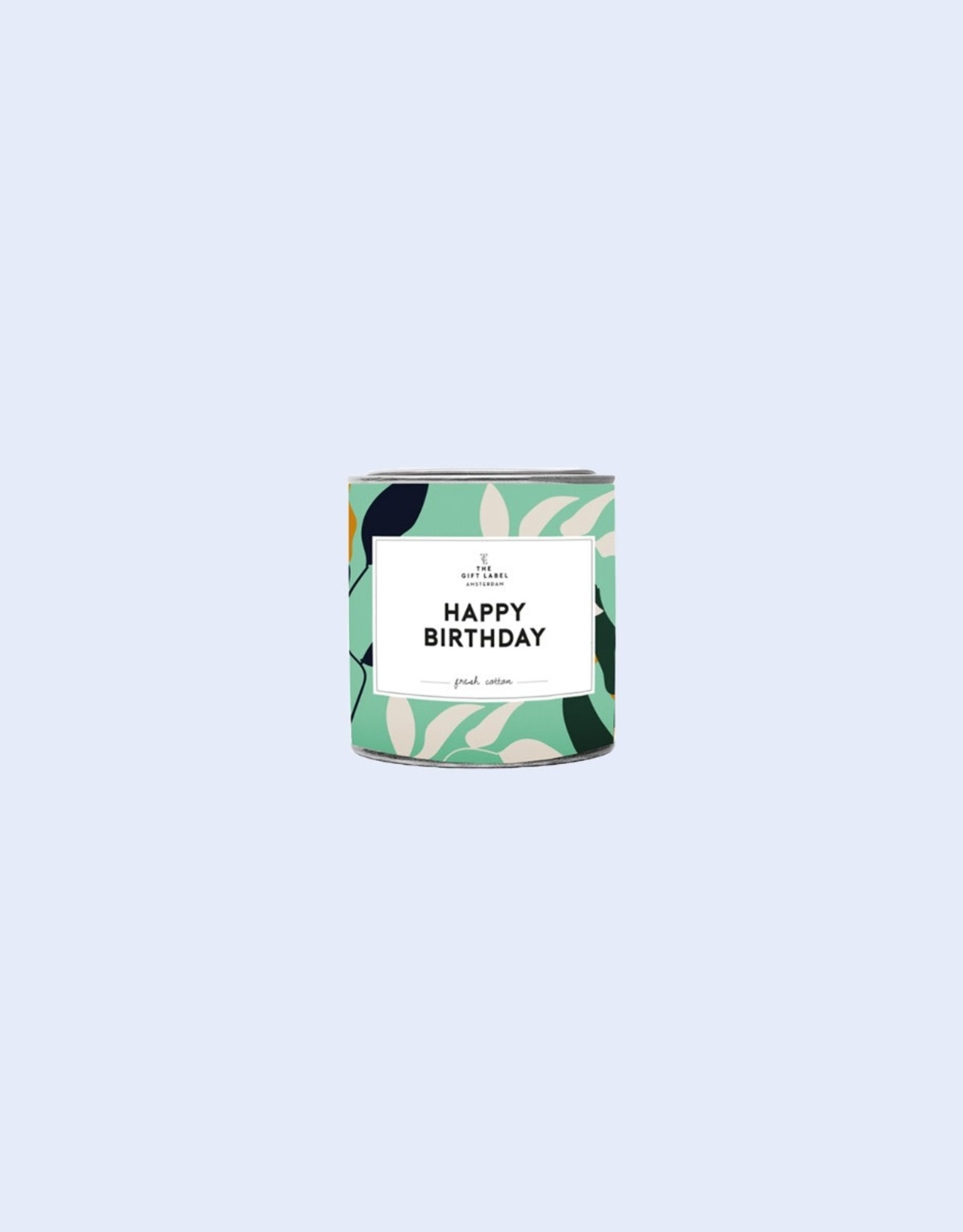 the gift label the gift label geurkaars klein Happy Birthday (fresh cotton)