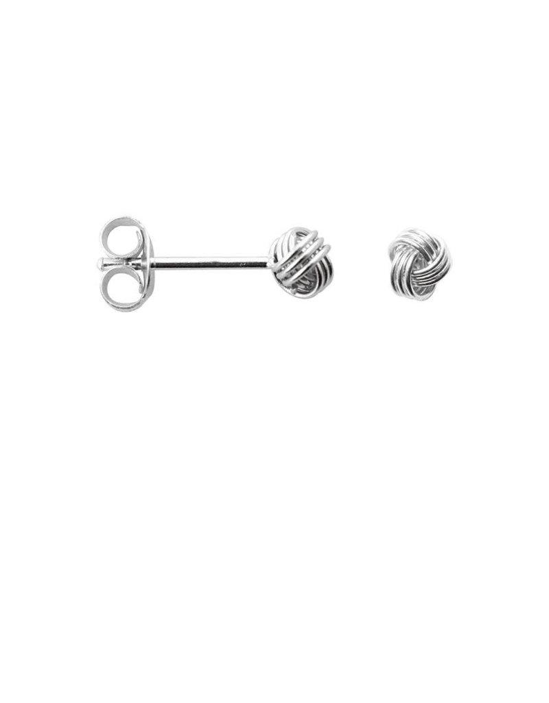Label kiki label kiki knot earring silver