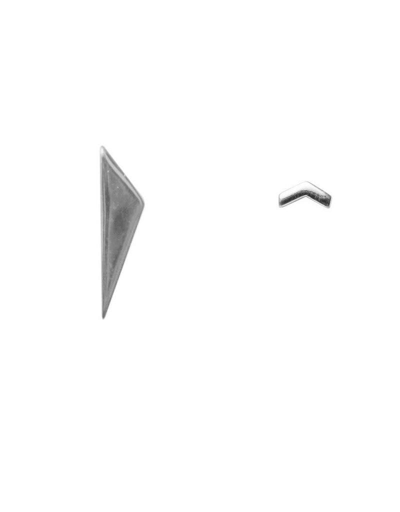 Label kiki label kiki earring arrow point triangle silver